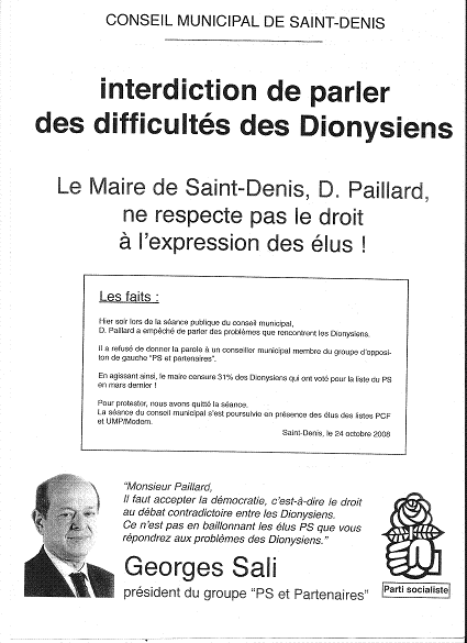 INTERDICTION  DE PARLER DES DIFFICULTEES DES DIONYSIENS